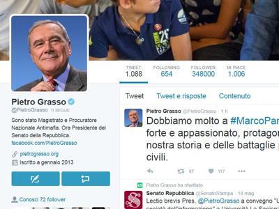 Addio a Marco Pannella, il cordoglio dei politici sui Twitter
