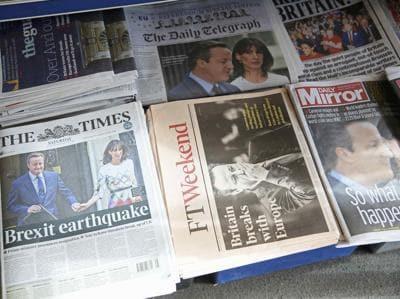 La Brexit sulle prime pagine di tutto il mondo