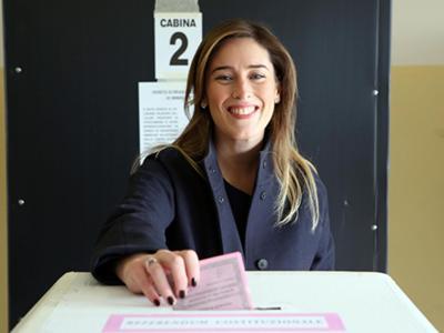 I politici alle urne per il Referendum