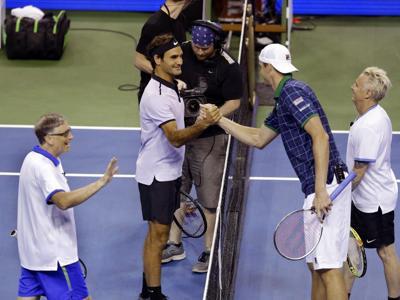 Roger Federer e Bill Gates: coppia inedita in doppio per l'Africa