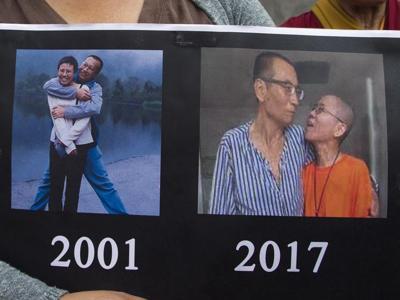 Morte Liu Xiaobo, le immagini della  cerimonia funebre