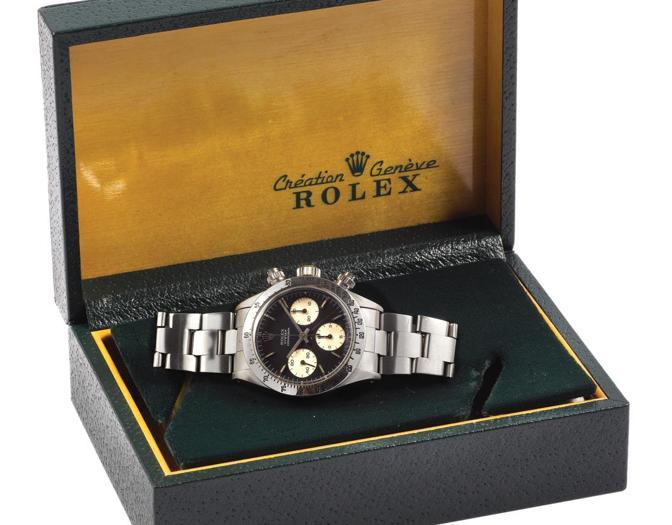 "94acc56a7680ba (2)Cambi un raro orologio da polso Rolex ""Oyster Cosmograph"", Sigma"