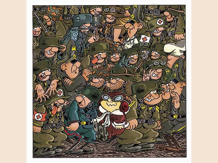Sturmtruppen. Illustrazione Lucca Comics (© Bonvi Eredi Bonvicini)