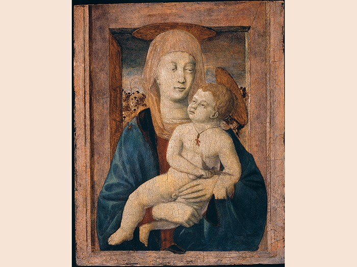 Piero della Francesca. Madonna con Bambino, 1435 ca, già Contini Bonacossi, Tempera su tavola, 53x41 cm. Newark, Delaware, The Alana Collection