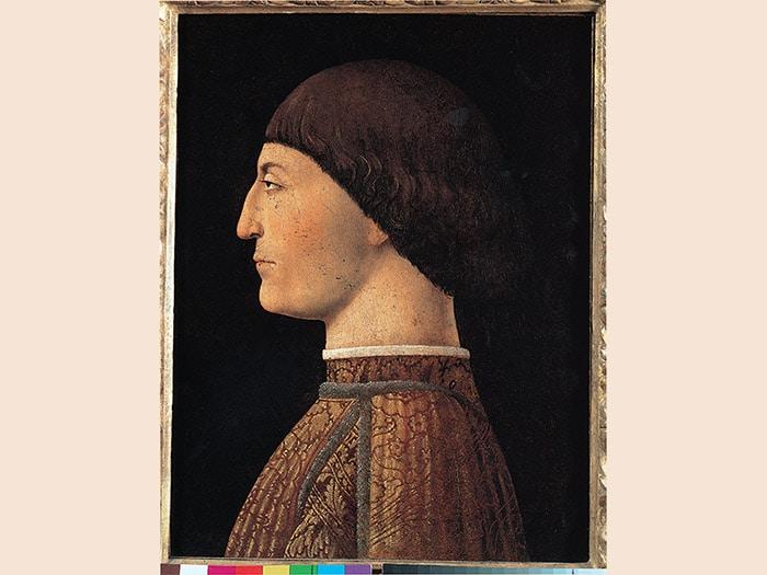 Piero della Francesca. Ritratto di Sigismondo Malatesta, 1451 c. Olio su tela, 44,5x34,5 cm. Parigi, Musée du Louvre