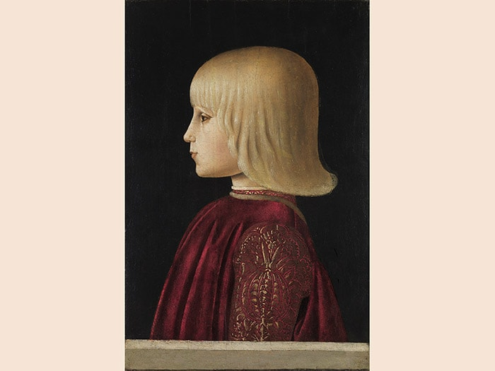 Piero della Francesca. Ritratto di giovane (Guidobaldo da Montefeltro?) 1478 - 1480. Tempera su tavola, 41x27,5 cm. Madrid, Museo Thyssen-Bornemisza