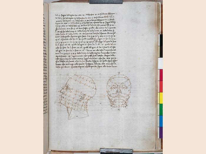 Piero della Francesca. De Prospectiva Pingendi, sec. XV.codice cartaceo autografo 291x 215 mm. Reggio Emilia, Biblioteca Panizzi