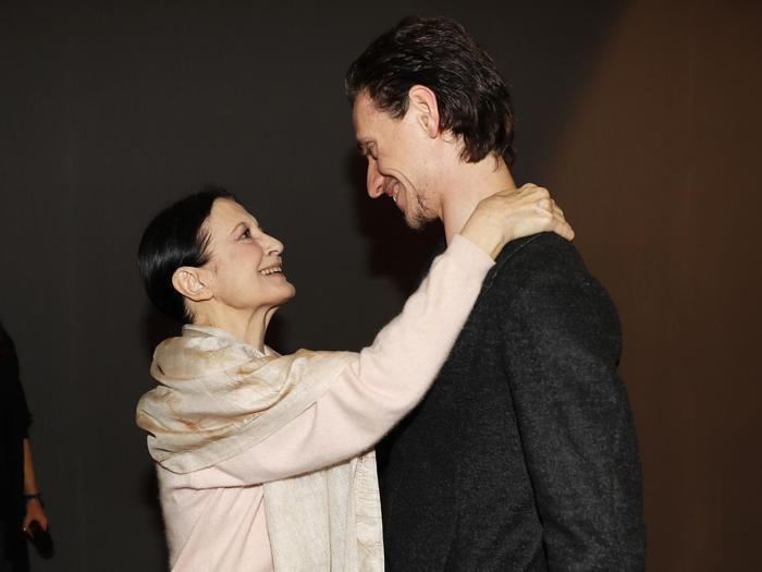 Carla Fracci e Sergei Polunin (AP Photo/Antonio Calanni)