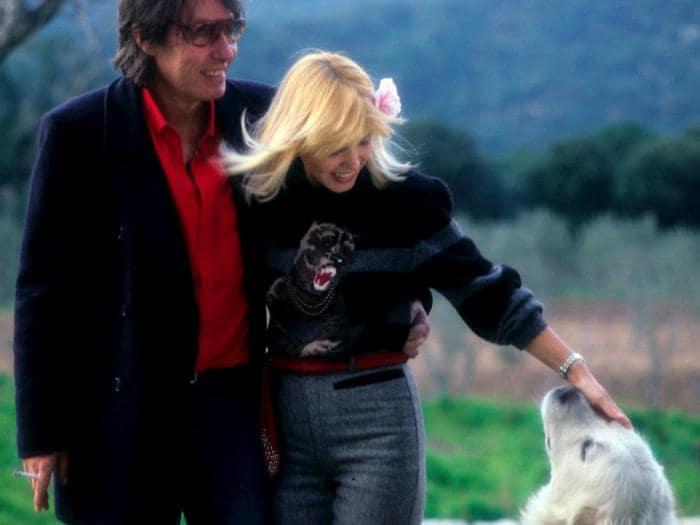 Fabrizio De Andrè con la moglie Dori Ghezzi (Marka)