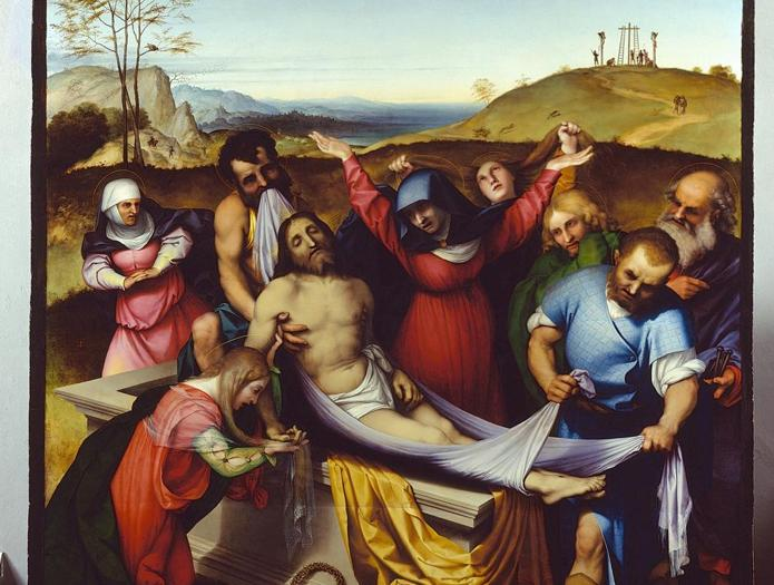 ITINERARI 2. Lorenzo Lotto. Deposizione, 1512 . Olio su tavola, 298 x 198 cm. Jesi, Pinacoteca Civica, Palazzo Pianetti