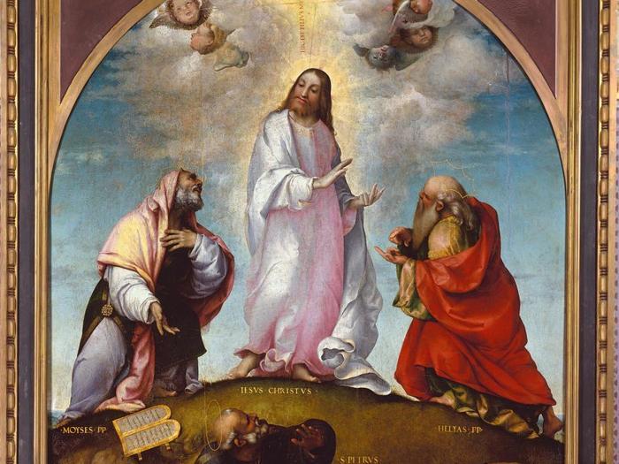 ITINERARI 17. Lorenzo Lotto. Trasfigurazione di Cristo, 1511 da. Olio su tavola, 300 x 293 cm. Recanati, Musei civici