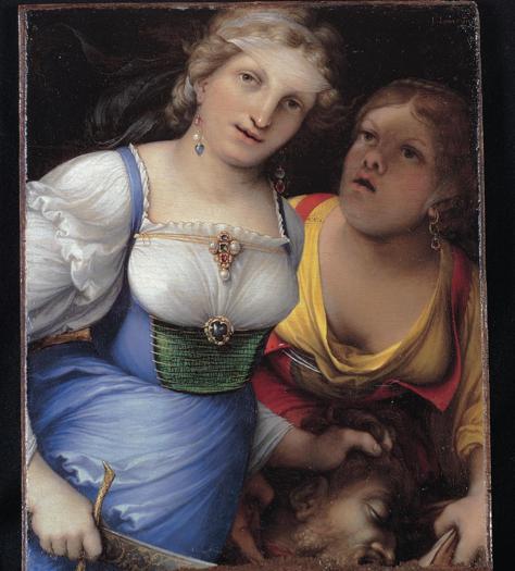 Lorenzo Lotto. Giuditta con la testa di Oloferne, 1512. Olio su tavola. 28,8 x 23,4 cm. Roma, Collezione BNL Gruppo BNP Paribas
