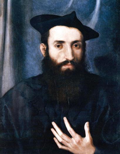 Lorenzo Lotto. Ritratto di Giovanni Maria Pizoni, 1538. Olio su tela 55,5 x 43,5 cm. Collezione Koelliker