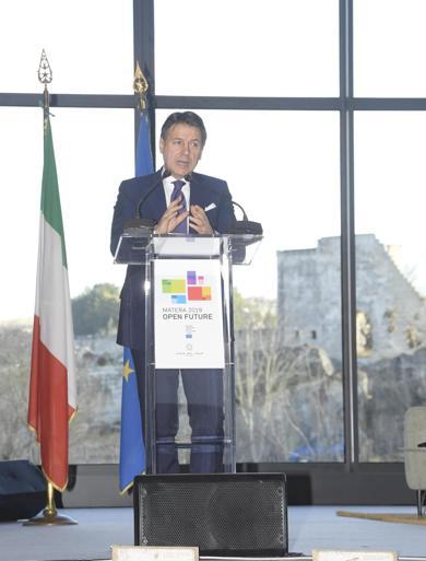 l Premier Giuseppe Conteall'apertura di Matera 2019, capitale europea della Cultura. (ANSA/ CHIGI PALACE PRESS OFFICE/ FILIPPO ATTILI)