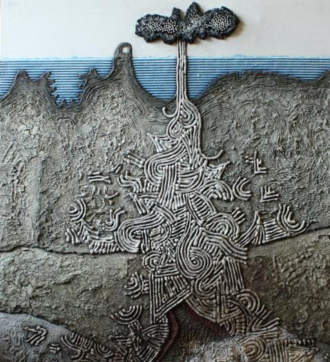 Tullio Pericoli - Focolaio sismico - 1971- particolare