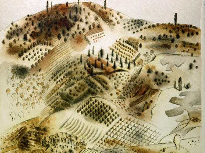 Tullio Pericoli  - Pittore e paesaggio -1999 - particolare