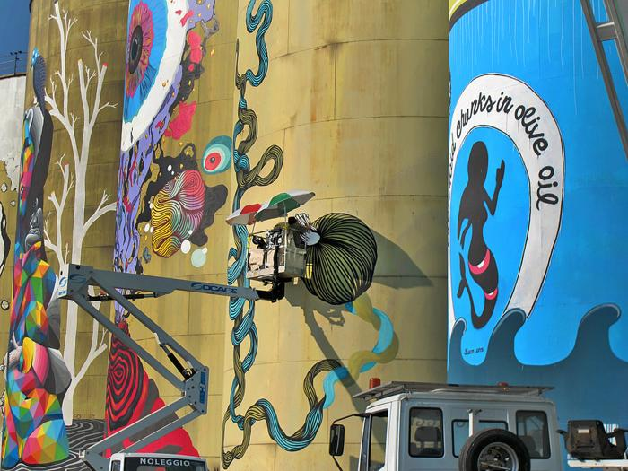 Catania, autorità portuale - street art © Blimunda Bli