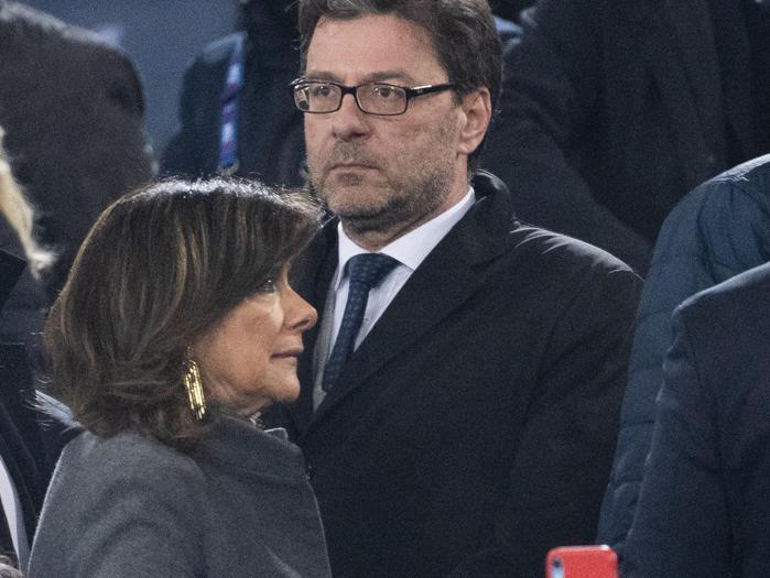 Maria Elisabetta Alberti Casellati, presidente del Senato della Repubblica, con Giancarlo Giorgetti,  sottosegretario di Stato alla presidenza del Consiglio (Ansa)