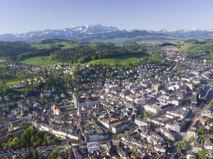 St.Gallen mit Säntis Photo by Christof Sonderegger