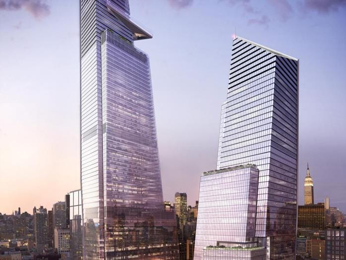 10 and 30 Hudson Yards with Retail Looking Northeast - courtesy of Related-Oxford