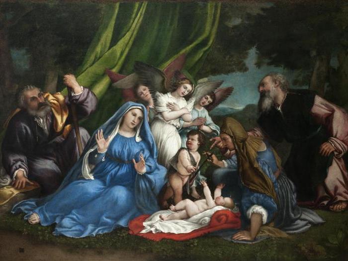 ITINERARI 12. Lorenzo Lotto. Adorazione del Bambino. 1549 - 1555 circa. Olio su tela, 172 x 255 cm. Loreto, Museo Pontificio Santa Case