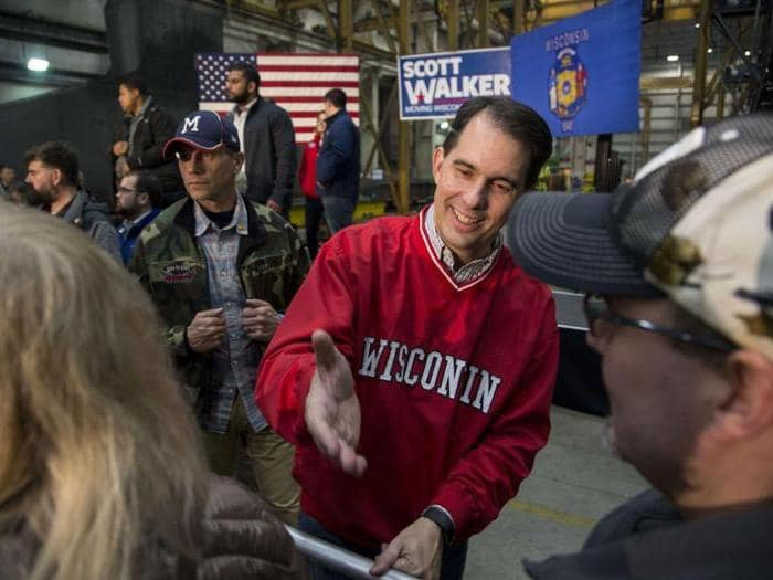 Il Governatore Scott Walker. (Darren Hauck/Getty Images/AFP)