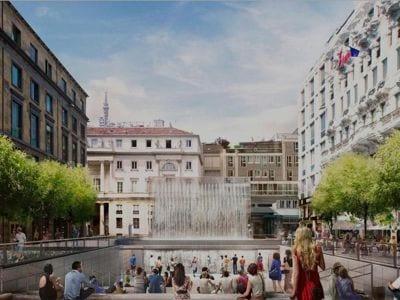 Come sarà l'Apple Store in piazzetta Liberty a Milano