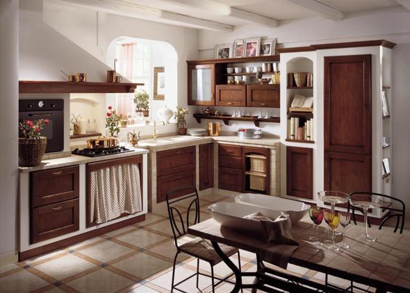 In Toscana il cuore delle cucine in muratura: rustiche ed assieme ...