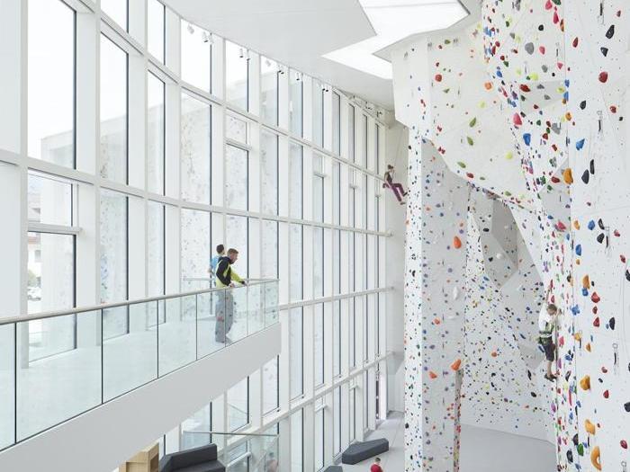 Palestra di arrampicata sportiva a Brunico - Progetto Studio Stifter+ Bachmann,  Pfalzen (Bz) - Foto: Renè Riller