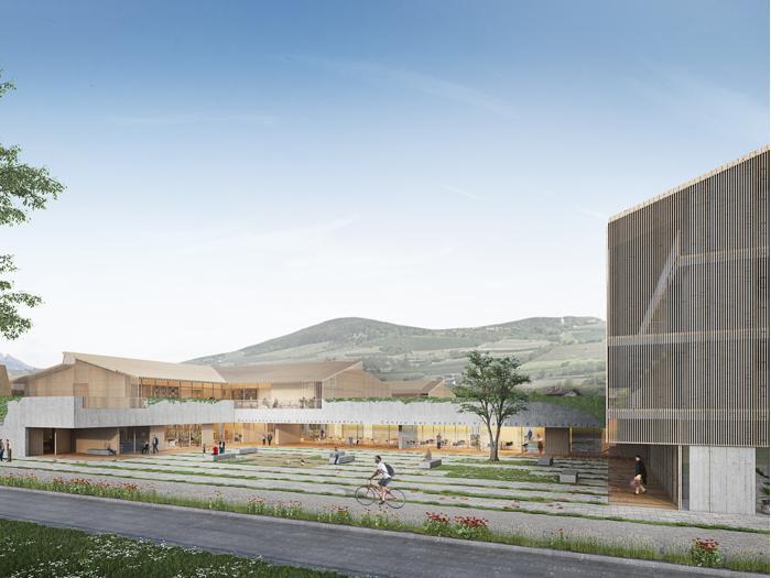 Render della nuova casa di riposo a Varna (Bz) - Progetto: Cooprogetti, Pinearq, studio Solarraum