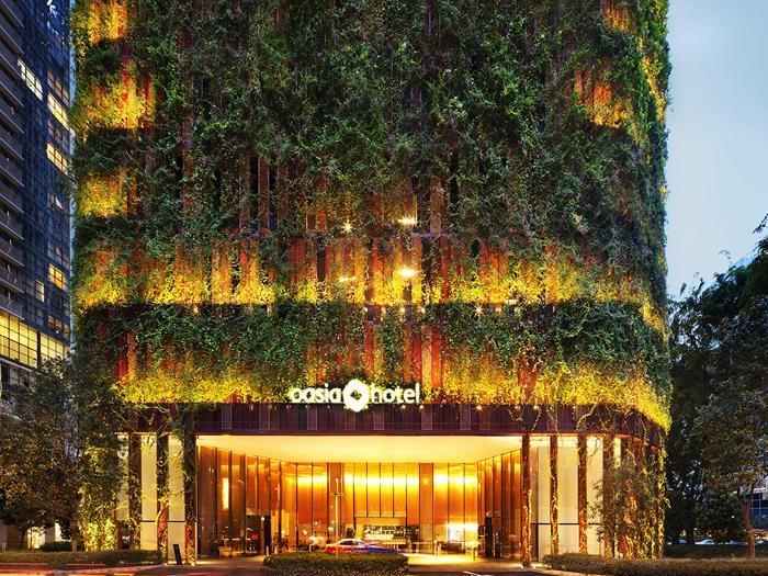 Oasia Hotel Downtown a Singapore - Progetto: Woha - Altezza: 190,9