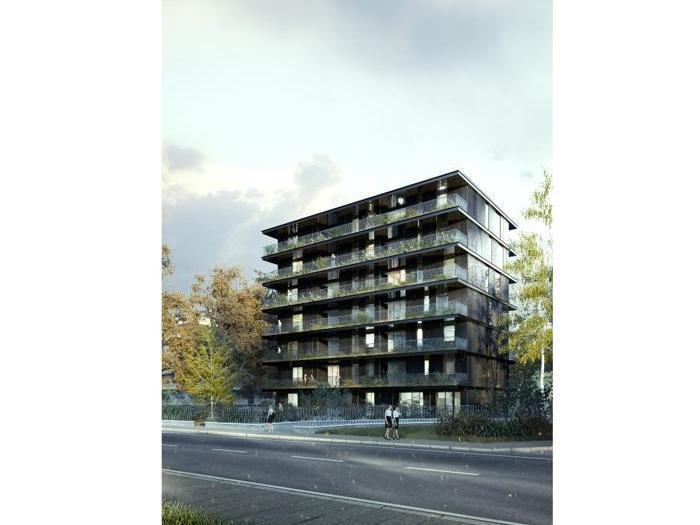 Progetto per un edificio residenziale in zona Eur a Roma progettato da It's