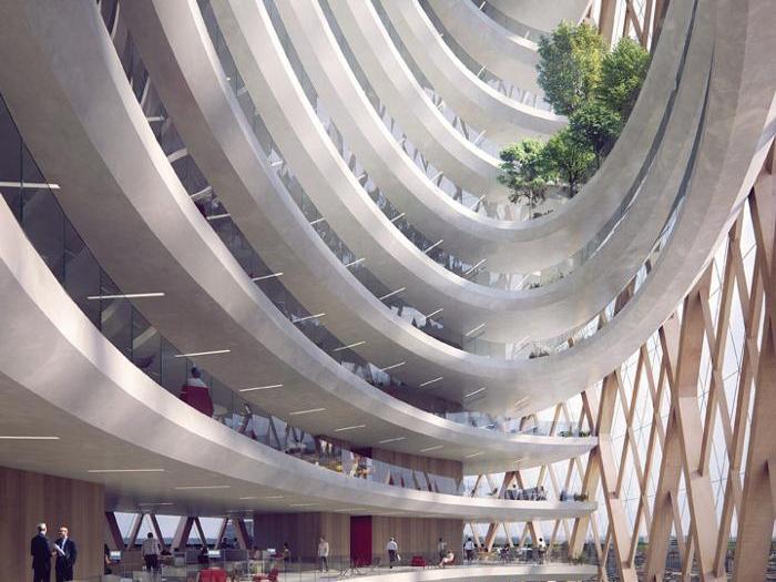 Ufficio Progetti Architetti Associati : Milano guida il trend dei nuovi uffici: «piazze» informali tra