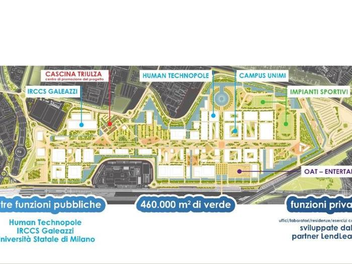 La mappa del Mind nell'area dell'Expo 2015