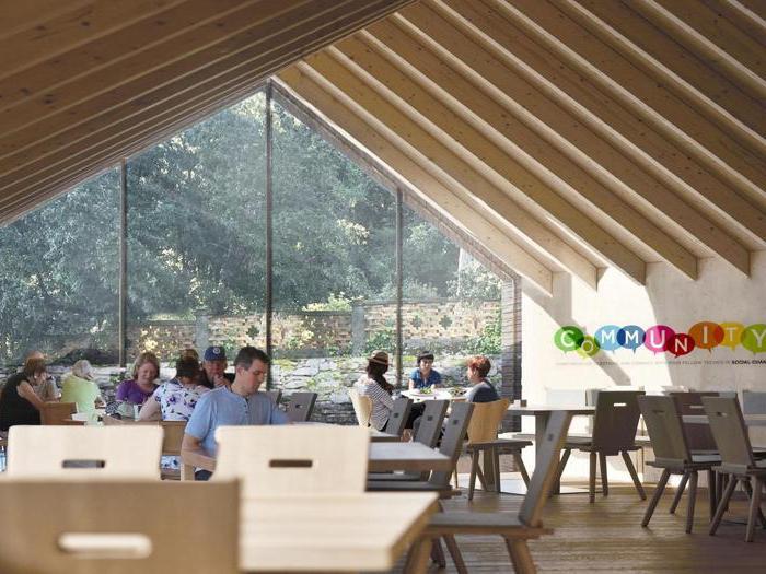 Render della Rems di Borgo San Lazzero, vicino Volterra (Pi) - Progetto - RossiProdi Associati - Soggiorno primo piano