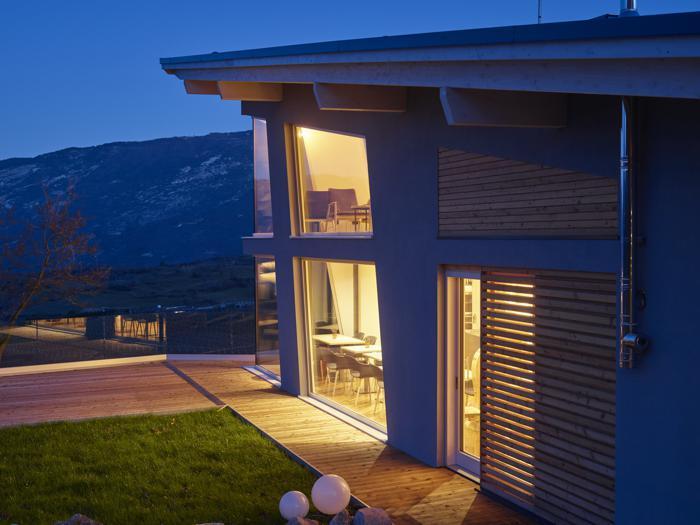 Chalet Pinocchio sull'altopiano Brentonico (Tn) - Progetto:  Nicola Tonolli - Realizzazione: Rubner Haus